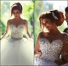 Hot Sell White Wedding Dresse Lace Bridal Gown Stock Size 4-6-8-10-12-14-16-16W