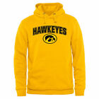 Iowa Hawkeyes Yellow Proud Mascot Pullover Hoodie - College