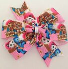 Sheriff Callie Wild West Hair Bows - Pinwheel Bow, Clips Or Bobbles - U Choose