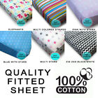 Quality Pure-Cotton Fitted Sheet Bed Sheet Single/Double/King Sizes Luxury