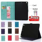 New Shockproof Wallet Card PU Leather Case Smart Sleep Wake Cover For Apple iPad