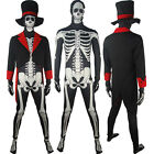 Donnie Darko Skeleton Skull Morphsuit Halloween Costume Horror Sci-fi Outfit