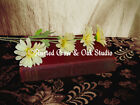 White Daisies Flower Red Book Home Decor Library Reading Art Matted Picture A223
