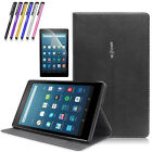 """Folio Leather Smart Cover Case Stand For Amazon Kindle Fire HD 8"""" 2016 6th Gen"""