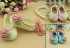 GORGEOUS Crochet Baby Girl Button Shoes sizes 0-9 months