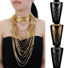 Fashion Jewelry Snake Chain Collar Chunky Choker Statement Pendant Bib Necklace
