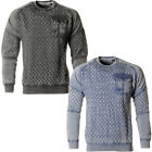 Soulstar Quilted Burnout Marl Fleece Sweatshirt  Mens Size