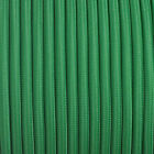 Fabric braided cable UK manufactured round and twisted covered green