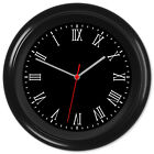 Backwards Clock Reverse Movement Anti Clockwise Roman Numerals #02