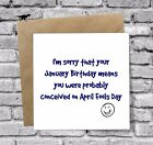JANUARY BIRTHDAY GREETINGS CARD BEST FRIEND BROTHER SISTER COUSIN FUNNY BFF JOKE