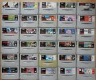 Super Nintendo SNES Games - Lots To Choose From / Cosmetic Wear #1