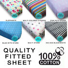 100 Cotton Fitted Single Sheet Patterned Print Quality Kids Adults UK Sizes