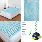3 Inch Foam Mattress Topper Pad Bed Cushion 5 Zone Comfort Orthopedic Firm Gel image