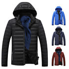 Men Winter Warm Slim Fit Thick Bubble hooded Coat Casual Jacket Parka Outerwear