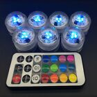 Diving Aquarium RGB Remote Control Round Waterproof LED Candle Light Lamp