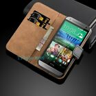 Luxury Genuine Real Leather Flip Case Wallet Cover Stand For HTC Mobile Phone <br/> 99.8% POSITIVE + FREE POSTAGE + 1ST CLASS POST