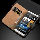 Case For HTC U11 10 U PLAY A9 M9 Luxury Genuine Real Leather Flip Wallet Cover <br/> Premium Quality✨UK Seller✨ROYAL MAIL First Class Post ✨