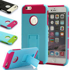 Ultra Thin Shockproof Rubber PC Stand Protective Case Cover For iPhone 6 6s Plus