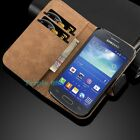 Luxury Genuine Real Leather Flip Case Wallet Cover Stand Samsung Galaxy Models