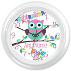 Cute Owl Clock Cartoon Design #3 - Can be personalised