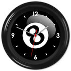 Pool Clock 8 Ball Billiards Games Room Gift #8 – Can be personalised £12.99 GBP on eBay