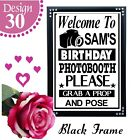 PERSONALISED BIRTHDAY PHOTO BOOTH GRAB A PROP SIGN 21ST, 30TH, 40TH PARTY SIGN