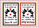 Personalised Disney Gifts for Him/Her Anniversary Valentines Birthday any event