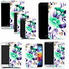 pattern case cover for many Mobile phones -  turquoise flower