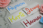2 X Personalised Disney Name Themed  Decal Vinyls 22 Colours Glass Decal Sticker