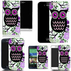 hard durable case cover for iphone & other mobile phones - purple feathered owl