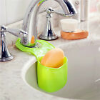 Kitchen Bathroom Sink Sponge Holder Hanging Strainer Organizer Storage Box Rack