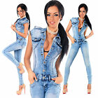 Sexy New Women's Denim Blue Jeans Playsuit Jumpsuit Overall Skinny Slim H 512