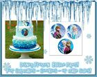 Frozen cake topper cupcake tops picture photo sugar round circles edible paper