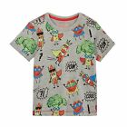 Bluezoo Kids Boys' Grey Superhero Vegetable Print T-Shirt From Debenhams