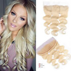 8A Brazilian Loose Wave 613 Blonde Virgin Hair Lace Frontal Closure Baby Hair