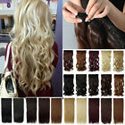 "UK seller 24"" clip in hair extensions full head one piece free 1st class post"