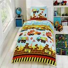 Rapport Kidz Multi Under Construction Boys Diggers Duvet Set Toddler,Single