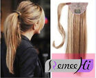 "16""-30""Silk Straight  Wrap - Clip In Ponytail Real Human Hair Extensions 120g"