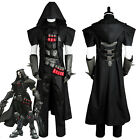 Overwatch OW Gabriel Reyes Reaper Cosplay Costume Suit Robe Uniform Coat Outfit