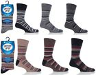 6 Pairs Mens Sock Shop Gentle Grip Black Grey Stripe Cotton Everyday Socks, 6-11