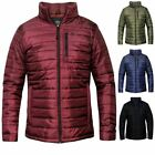 Mens New Puffer Quilted Bubble Puffa Warm Thick  Zip Padded Coat Jacket Top
