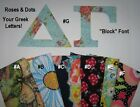 Any Sorority Fraternity A-Z Greek STENCIL Letter Kit IronOn NoSew Alpha~Omega