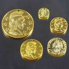5 size French / Roman Coin Charms in Gold Plate Bulk Wholesale Lots Free Postage