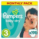 Pampers Baby Dry Nappies Monthly Saving Jumbo Pack Size 3 4 + 5 5+ 6 6+ Free New