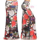 Floral Tribal Sublimation high waist fold over maxi long skirt (S/M/L/XL)