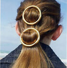 New Hair Pins Antiqued RUNWAY Gold & Silver Round Hair Barrette Made Hair Clip