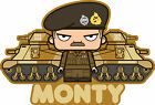 ICONZ CARTOON TEE SHIRT BERNARD MONTGOMERY 8TH ARMY DESERT RATS M3 GRANT MONTY