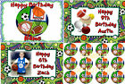 EDIBLE SPORTS CAKE IMAGE & CUPCAKES  PARTY ICING TOPPER