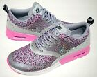 Bling Nike Air Max Thea Print with Swarovski Crystal Detail Pink Wolf Grey White