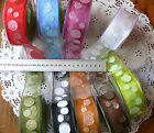 Glitter SPOTTED Feature Sheer 9 Varieties Wired 38mmWide 3Met Length MultiList B